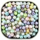 Glass Pearls Round Beads 6mm Pastel Colors Mix 200pcs gprd06m pstl