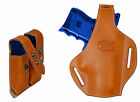 New Tan Leather Pancake Gun Holster + Dbl Mag Pouch Astra Beretta Comp 9mm 40 45