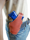 New Barsony Burgundy Leather Pancake Gun Holster for Ruger Compact 9mm 40 45
