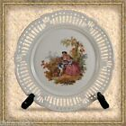 VINTAGE SCHWARZENHAMMER BAVARIA GERMANY RETICULATED PLATE ROMANNTIC SCENE #3