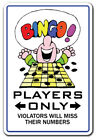 BINGO PLAYER Novelty Sign card players gag gift funny caller markers ball fun