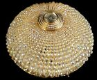 Antique french empire style ceiling lamp Bronze and Crystal balls