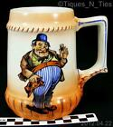 Antique Austria Old Pilsen Beer Mug Stein Novelty Drunken Figurine (EE)
