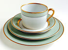 Fitz and Floyd Green Renaissance Cup/Saucer, B/B Plate, Salad  1978 PERFECT NEW
