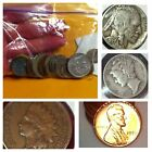 Junk Drawer LOT- US $ WHEATS, INDIAN HEAD PENNY, SILVER MERCURY DIME, 20 FOREIGN