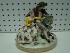 Antique Hand Painted Gold Trimmed Volkstedt Porcelain Man & Woman Figurine 6