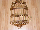 Universal 1970's Statuary GOLD Molded Plastic Ornate GILDED BIRD CAGE Wall Decor
