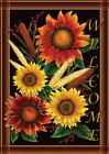 NEW LARGE TOLAND HOUSE FLAG SUNFLOWERS SUNFLOWER WELCOME BEAUTIFUL 28 X 40 FLAG