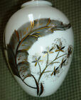MOVING SALE! 1936 ROSENTHAL Hand-Painted Vase wGold & Grey Feathers & Dandelions