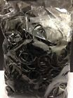 600  Black Loom Rubber Band Refills Bracelet Bands Fits Rainbow Loom 25 S-Clips
