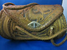 VINTAGE TOOLED LEATHER HANDBAG SATCHEL MEXICO