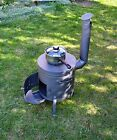Portable wood burning camping cooker stove