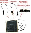 5W 12V portable multi-funtional solar panel battery charge  for RV,car,camping