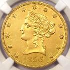 1856-O Liberty Gold Eagle $10 - NGC AU Details - Very Rare New Orleans Date