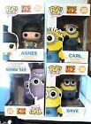 POP FUNKO Despicable me 2 SET OF 4 DAVE, CARL, AGNES AND EVIL MINION NEW IN BOX