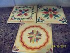 Southern Living at Home Hand Painted Trivets: Siena