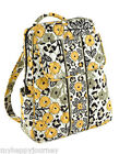 VERA BRADLEY Small Backpack Bag Purse Go Wild Black Yellow Grey NWT