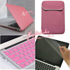 """4in1 Pink Rubberized Hard Case Skin+KB Cover+LCD Film+Bag  For Macbook Air 11.6"""""""