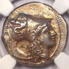 Ancient Lucania, Heraclea AR Stater 330-280 BC - NGC Choice XF - Athena Coin