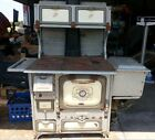 Antique Home Comfort Wood Burning Cook Stove Blue Gray speckle, Very Pretty NR