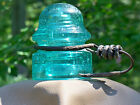 ANTIQUE ~ CD 170 ~ NO EMBOSSING ~ PENNYCUICK STYLE INSULATOR ~ SB  BUBBLY AQUA