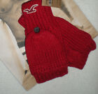 NWT HOLLISTER  CLASSIC WINTER  GLOVES   RED