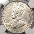 1925 Australia 2 Shillings (2S, Florin) - NGC AU58 - Rare Certified Coin