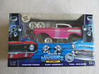 MUSCLE MACHINES Build It Kit 71124 57 Chevy 1/24 Scale HOT PINK 2003 NIB
