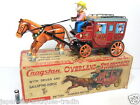 Japanese Old 1950 Antique Vintage CRAGSTAN OVERLAND STAGECOACH Tinplate Tin Toy