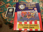 United States STATE COIN Collector's MAP ALBUM 50 State QUARTERS 1999-2008!