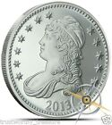 1 troy oz silver 2013 CAPPED BUST / EAGLE Round .999 fine - see Bonus Offer