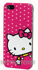 for iphone 5 5s cute hello kitty hot pink polka dot hard case +screen protector