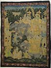 Large Antique India Persian Painting Noble Procession Elephants Hindu Art Fabric