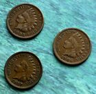 LOT OF 3 *** INDIAN HEAD CENTS *** (1905,1906,1907) *** ALL FINE TO FINE PLUS!