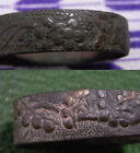 2 FUCHI FOR JAPANESE SAMURAI'S SWORD FITTING-JAPANESE PINE TREE AND UME DESIGN