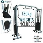 BodyRip Power Cable Crossover Exercise Machine Workstation Cage Training Gym