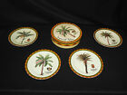 Imperial Palm Dessert Set of Four (4) Collector's Porcelain Plates #8875