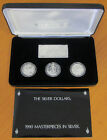 RAM 1990 Masterpieces in Silver 'The Silver Dollars' Silver Proof Coin Set
