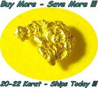NATURAL RAW ALASKAN PLACER GOLD NUGGET COARSE FLAKE FINE .055 GRAM FROM ALASKA