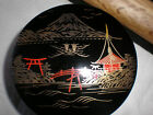 Vintage 6  Handpainted Japan Wood Lacquerware  Coasters