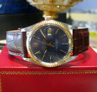 Mens Vintage ROLEX Oyster Perpetual Datejust Stainless Steel Yellow Gold Watch