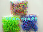 900 Mixed Color 3 Styles (E) Loom Rubber Bands & 24 S Clips US Seller