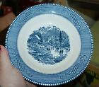 Currier & Ives AMERICANA 2 Berry 4 Soup Bowls Early Winter Dinnerware Royal