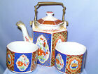 TEA POT SET WITH 2 TEA CUPS.  TEA FOR TOW  MADE IN JAPAN   ENCHANTMENT