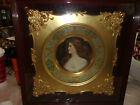 Antique Very Very Rare Royal Vienna Signed Handpaint Victorian Woman Porcelain