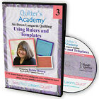 NEW DVD QUILTERS ACADEMY SITDOWN LONGARM QUILTING USING RULERS AND TEMPLATES