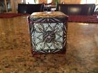 Tin Hinged Enbossed Art Deco Style from Holland Vintage Ornate