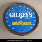 Vintage Gilbey's Gin Vodka Wall Advertising THERMOMETER