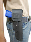 New Barsony Black Leather Flap Gun Holster for Springfield Full Size 9mm 40 45