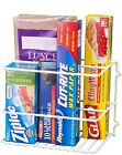 Deluxe Wrap Rack Aluminum Foil Storage Wall Mount Kitchen Organizer Steel New